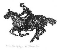 Horse and Rider Digitized [6 1/2 x 4 3/4 in.]   2002
