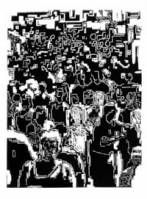 Crowd, I [18 x 24 in.] 2004